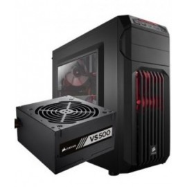 Gabinete + Fuente CORSAIR CC-9020116-MX, Midi-Tower, PC, ATX, Micro-ATX, Mini-ITX, Negro, 500 W