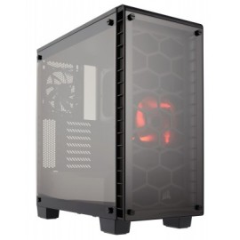 Gabinete CORSAIR ATX Crystal Series 460X, Midi-Tower, PC, ATX, Micro-ATX, Mini-ITX, Negro