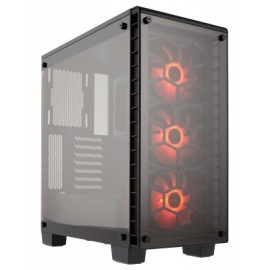 Gabinete CORSAIR ATX Crystal Series® 460X RGB, Midi-Tower, PC, ATX, Micro-ATX, Mini-ITX, Negro