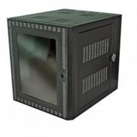 Gabinete de pared NORTH SYSTEM, Negro, Independiente, 12U, 32 kg