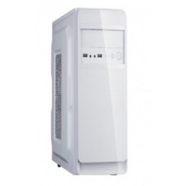 Gabinete EVOTEC 3002B, Mini-Tower, Micro-ATX, Color blanco, 600 W