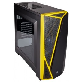 Gabinete Gaming CORSAIR Spec-04 Red Led, Midi-Tower, PC, Acero, ATX, Micro-ATX, Mini-ITX