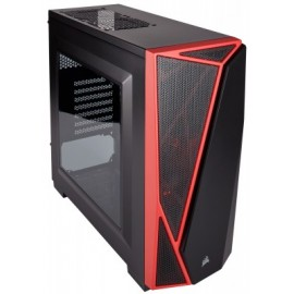 Gabinete Gaming CORSAIR Spec-04 Red Led, Midi-Tower, PC, Acero, ATX, Micro-ATX, Mini-ITX, Negro,Rojo