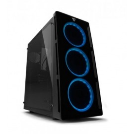 Gabinete Gaming GAME FACTOR CSG-501, Torre, PC, ATX, Micro-ATX, Mini-ITX, Negro