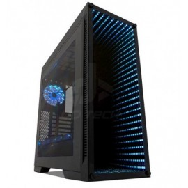 Gabinete Gaming GAME FACTOR CSG601, Torre, PC, ATX, Negro