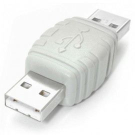 Adaptador USB StarTech.com, Macho/Macho, Color blanco