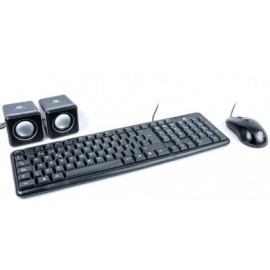 Kit de teclado y mouse Naceb Technology, Negro