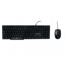 Kit de teclado y mouse PERFECT CHOICE , Estándar, Negro, 1200 DPI