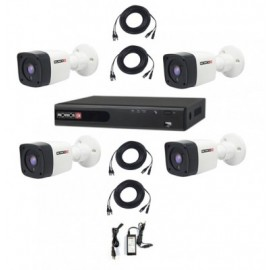 Kit de Video Vigilancia Provision-ISR PAK720PX4, Negro, Color blanco