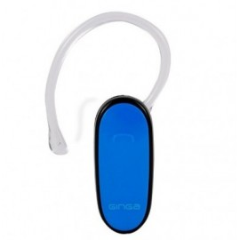 Audífono GINGA , Azul, Bluetooth, 3,5 mm