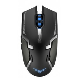Mouse Gaming Naceb Technology NA-631, RF inalámbrico, Negro