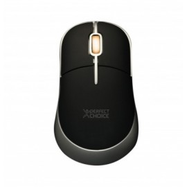 Mouse PERFECT CHOICE, Negro, 3 botones, USB, Óptico, 800 DPI