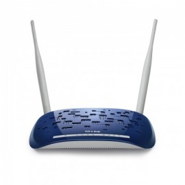 Router ADSL2+ TP-LINK, 2, Color blanco con azul, 300Mbps