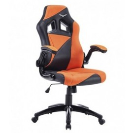 Silla Gaming Naceb Technology AIR STRIKER, Gamer, Negro/Naranja, Piel Sintética