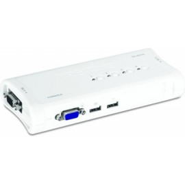 Switch KVM TRENDnet, VGA, 1,8 m, Azul, 4