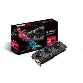 Tarjeta de Video Gaming ASUS ROG-STRIX-RX580-O8G-GAMING, AMD, Readon RX 580, 7680 x 4320 Pixeles, 1300 MHz, GDDR5