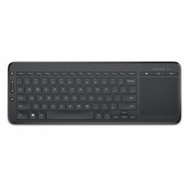 Teclado MICROSOFT All-in-One Media Keyboard, USB, QWERTY, Inalámbrico, Universal, Negro