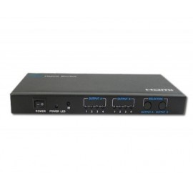 Video Splitter 4x2 MANHATTAN 207409, Negro, HDMI