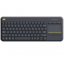 Wireless touch keyboard LOGITECH K400 PLUS, Negro, Inalámbrico