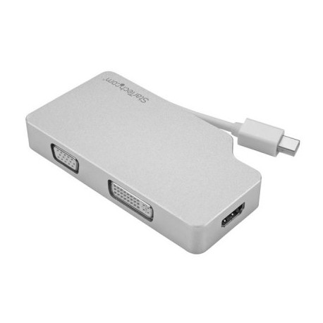 Adaptador de Audio y Video StarTech.com MDPVGDVHD4K, Plata, Mini DisplayPort, Macho/hembra