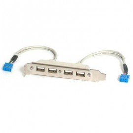 Cabezal bracket StarTech.com USBPLATE4, USB A, USB A, Color blanco