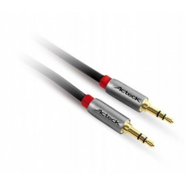 Cable auxiliar ACTECK CP-150, 1 m, 3.5mm, 3.5mm, Negro