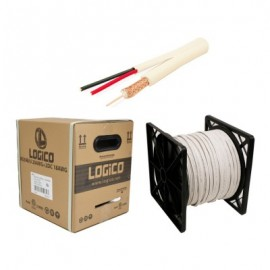 Cable coaxial LOGICO, 152 m, Siames, Color blanco