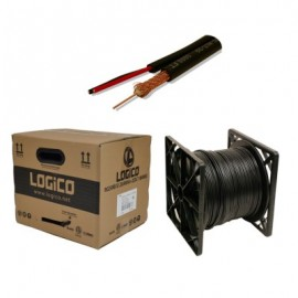 Cable Coaxial RG-59 LOGICO, 305 m, Siames, Negro
