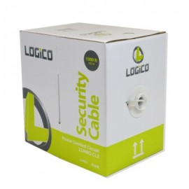 Cable de Alarma 4 X 22 LOGICO PLC4212, 305 m, Color blanco