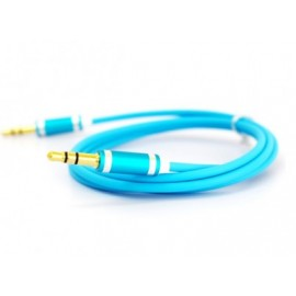 Cable de Audio Naceb Technology NA-488AZ, 1 m, Azul