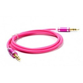 Cable de Audio Naceb Technology NA-488ROSR, 1 m, Rosa