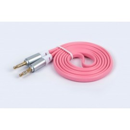 Cable de Audio Naceb Technology, 1 m, 3.5 jack, 3.5 jack, Rosa