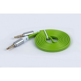 Cable de Audio Naceb Technology, 1 m, 3.5 jack, 3.5 jack, Verde