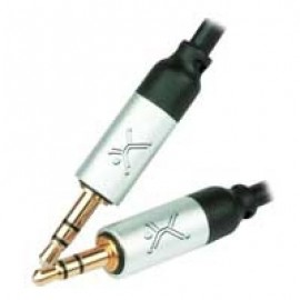 Cable de audio PERFECT CHOICE, 1 m, 3.5mm, 3.5mm, Macho/Macho, Negro