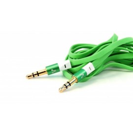 Cable de audio VORAGO, 1,5 m, 3.5mm, 3.5mm, Verde