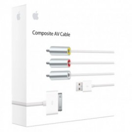 Cable de audio y video APPLE Composite AV Cable - SPA, Color blanco, Apple, Adaptadores
