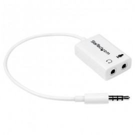 Adaptador de Diadema Mini Jack 3.5 mm StarTech.com MUYHSMFFADW, Color blanco