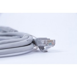 Cable de parcheo Naceb Technology, 1,5 m, Gris