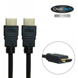 Cable HDMI macho/macho 2 mts Full HD 1080p color negro. Premium OvalTech