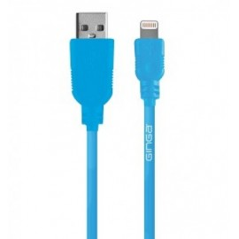 Cable iPhone GINGA GO17CAB02IPH-AG, Azul, Apple, 1 m, Cable cargador