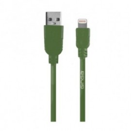 Cable iPhone GINGA GO17CAB02IPH-CA, Verde, Apple, 1 m
