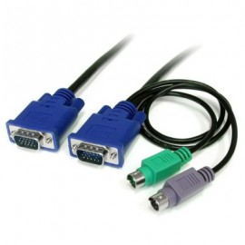 Cable KVM StarTech.com SVECON6, 1,8 m, 2 x PS/2, 2 x VGA