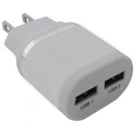 Cargador USB BROBOTIX 161264B, Color blanco