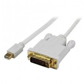 Adaptador Mini DisplayPort a DVI StarTech.com, Mini DisplayPort, DVI-D, Macho/Macho, Color blanco