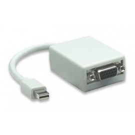 Adaptador mini displayport a VGA MANHATTAN 322508, Color blanco, VGA, Macho/hembra