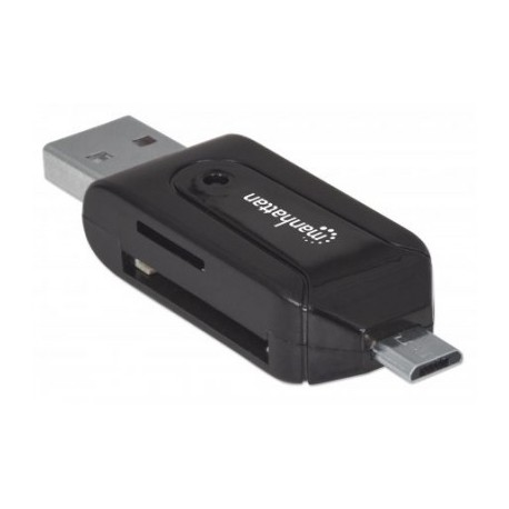 Adaptador OTG USB MANHATTAN 406215, USB, Negro