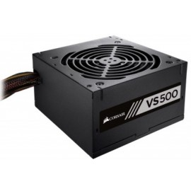 Fuente de Poder Gaming CORSAIR BUILDER SERIES VS500 UNIVERSAL, 500 W, ATX, Negro